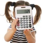 Ребенок с калькулятором